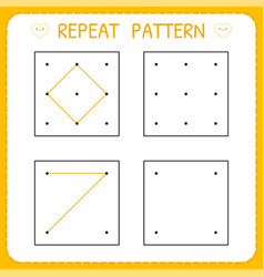Repeat pattern working page for kids worksheet vector