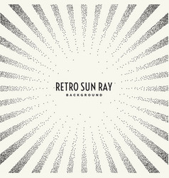Retro sun ray on background vector