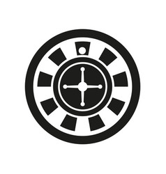 roulette icon simple vector image