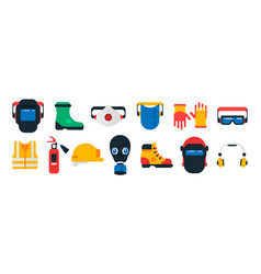 safe work items set a collection personal vector image