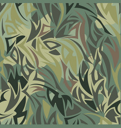 seamless camouflage pattern khaki texture vector image