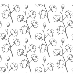 Seamless pattern cotton vector