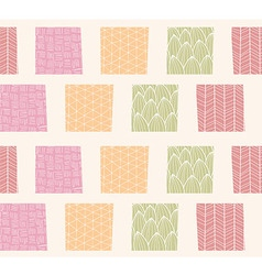 Seamless pattern with ornamental square shapes vector