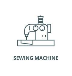 sewing machine line icon linear concept vector image
