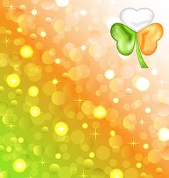 Shamrock in Irish flag color for Saint Patrick day vector