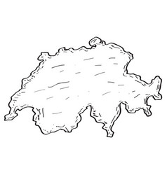 sketch of a map of switzerland vector image