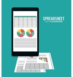 Spreadsheet icon design vector