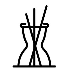 Sticks diffuser icon outline style vector