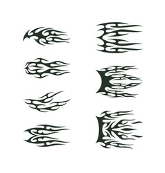 Tribal tatto collection set flame tatoo totem vector