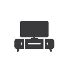 tv table icon vector image