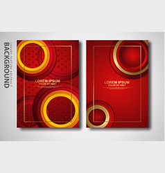 Two set cover design template with luxury vector