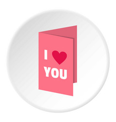 Valentines day card icon circle vector