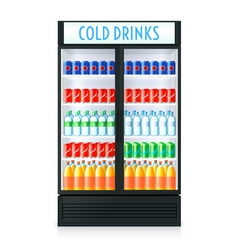 Vertical Refrigerator Template vector image