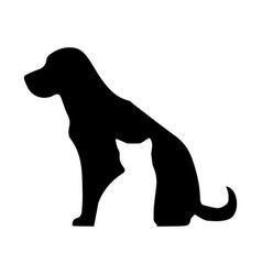 veterinary logo for pet shop vector image