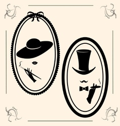 Vintage womans hat vector