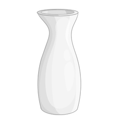 White vase icon cartoon style vector
