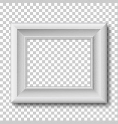 white wooden vintage frame isolated on vector image