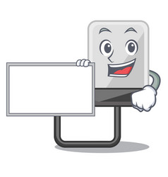 with board hard drive in shape of mascot vector image