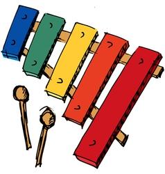 xylophone vector image