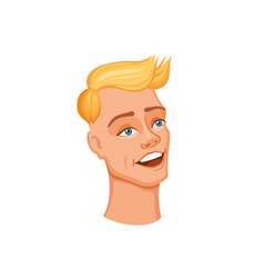 young man head vector image