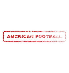 american football rubber stamp vector image vector image
