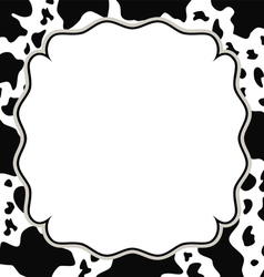 frame with cow skin texture vector image vector image