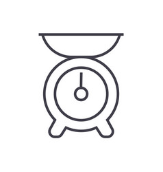 kitchen weight line icon sign vector image