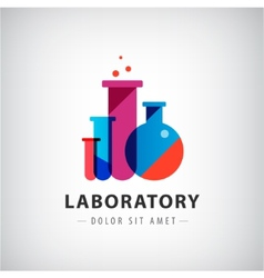 laboratory chemical medical test logo vector image