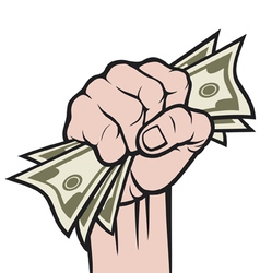 Money in hand vector