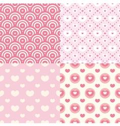Set of cute seamless patterns vector