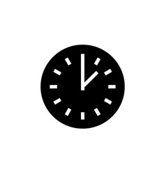 time simple icon black sign vector image