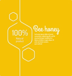 Background for bee products vector image vector image