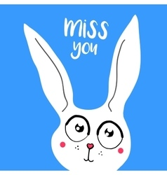 card banner lettering letters I miss you vector image vector image