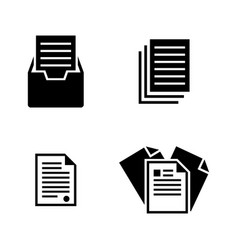 file simple related icons vector image vector image