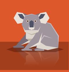 flat design koala vector image vector image