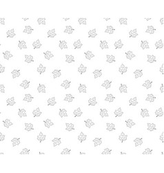 hand drawn leaves in doodle style - seamless vector image
