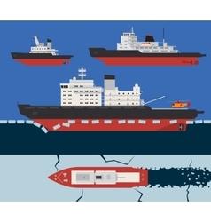 Icebreaker infographics vector image vector image