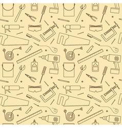 Seamless Workshop Tools Pattern vector image vector image