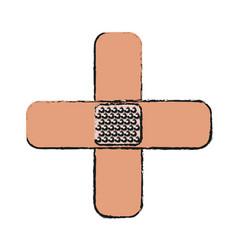 ban aid icon vector image vector image
