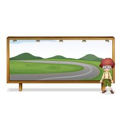 boy and board vector image
