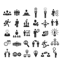 Business people icons vector image vector image