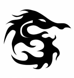 dragon tattoo vector image vector image
