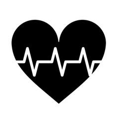 Heart pulse rhythm cardio pictogram vector