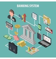 Isometric bank concept vector