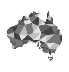 map of australia map concept polygon vector image vector image