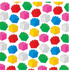 background pattern with plastic building blocks vector image vector image