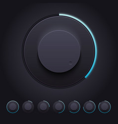 Dark Knobs Set for Web and Mobile vector image