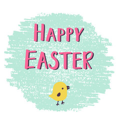 easter greeting card with hand drawn lettering vector image