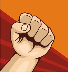 fist 01 vector image vector image