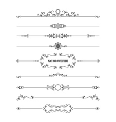 Frame and dividers set isolated on white vector image vector image